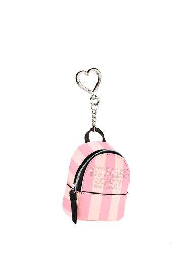 Llavero-de-Mochila-Pink-Stripes-Victoria-s-Secret