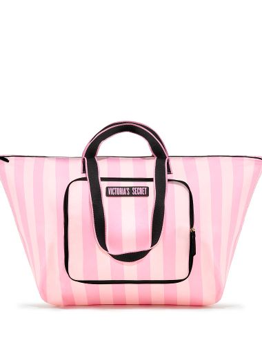 Bolsa-De-Viaje-Plegable-Pink-Stripes-Victoria-s-Secret