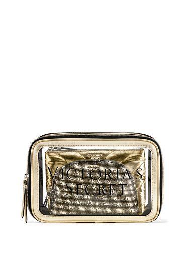 Trio-de-Cosmetiqueras-acabado-metalico-Victoria-s-Secret