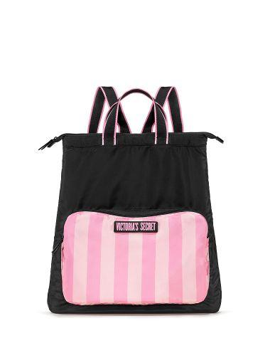 Mochila-Plegable-de-Viaje-Pink-Stripes-Victoria-s-Secret