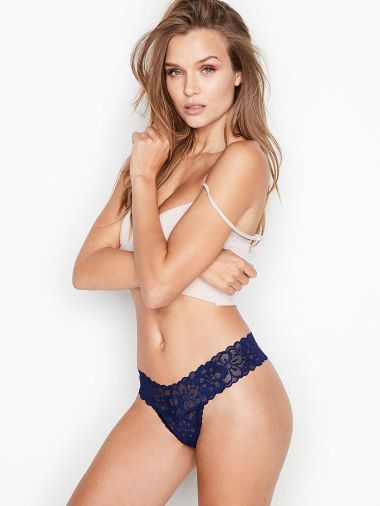 Panty-Tanga-Floral-con-Encaje-Victoria-s-Secret