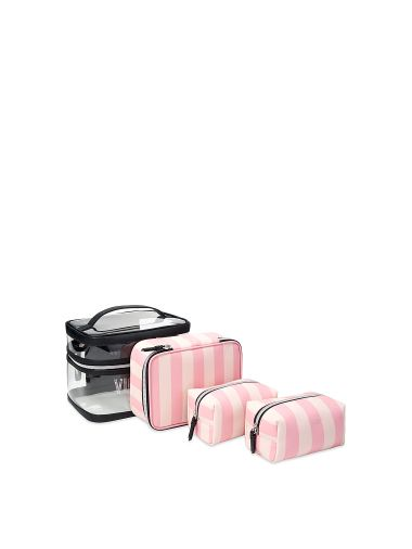Cosmetiquera-4-En-1-Pink-Stripes-Victoria-s-Secret