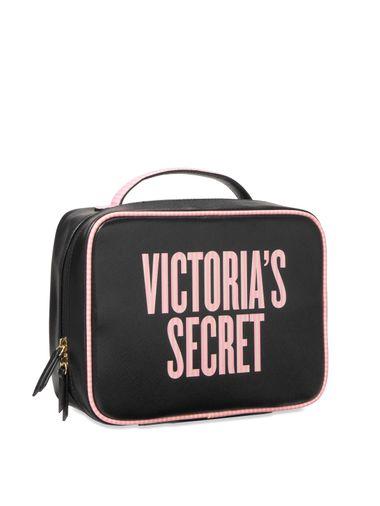 Cosmetiquera-De-Viaje-Negro-Rosa-Victoria-s-Secret