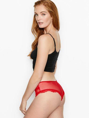 Panty-Cheeky-de-Malla-Transparente-con-Corte-de-Encaje-Victoria-s-Secret